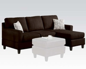 Acme Furniture Reversible Chaise Sectional Vogue Chocolate AC05907