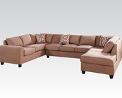 Acme Furniture Reversible Sectional Sofa Dannis Saddle by Acme AC56010