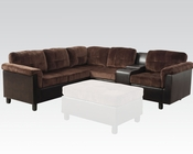 Acme Furniture Reversible Sectional Sofa in Chocolate Cleavon AC51665