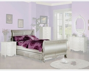 Acme Furniture Sleigh Bed in Pearl White AC01010TBED