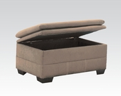 Acme Furniture Storage Ottoman Lucille Sage  AC50373