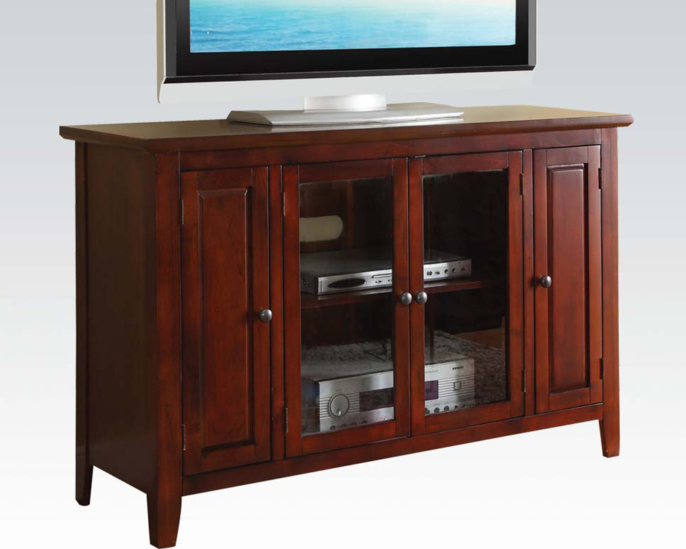 acme furniture tv stand in cherry by acme furniture ac91008
