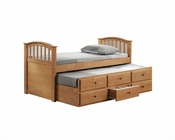Acme Furniture Twin Bed with Trundle and Drawers in Maple AC08935