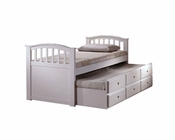 Acme Furniture Twin Bed with Trundle and Drawers in White AC09145