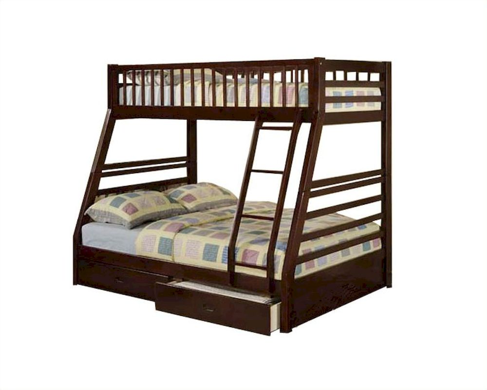 Acme Furniture Twin Over Full Bunk Bed In Espresso Jason