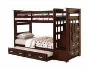 Acme Furniture Twin over Twin Bunk Bed in Espresso AC10170
