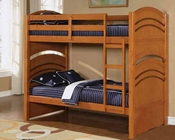 Acme Furniture Twin over Twin Bunk Bed in Oak AC01150