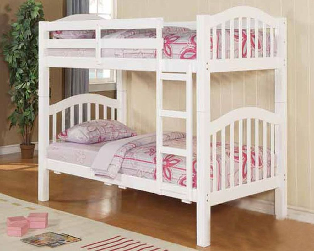 Acme Furniture Twin over Twin Bunk Bed in White AC