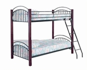Acme Furniture Twin over Twin Bunk Bed with Ladder in Brown AC12775