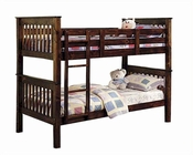 Acme Furniture Twin / Twin Bunk Bed in Walnut AC02415