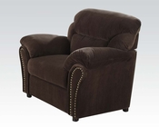 Acme Furniture Velvet Chair Patricia Chocolate AC50952