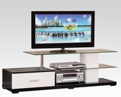 Acme Furniture White and Black TV Console AC91140