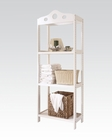 Acme Furniture White Bathroom Rack AC92098