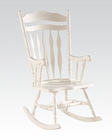 Acme Furniture White Rocking Chair AC59227