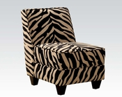 Acme Furniture Zebra Fabric Accent Chair AC10070