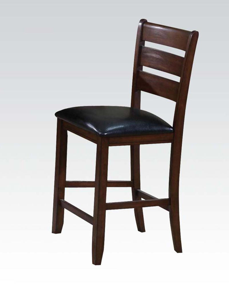 Acme Ladder Back Counter Height Chair Urbana Cherry AC00682 (Set of 2)