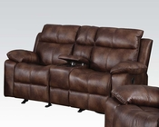 Acme Light Brown Loveseat w/ Console and Motion Dyson AC50816
