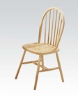 Acme Natural Fininsh Side Chair Farmhouse AC02613N (Set of 4)