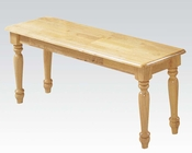 Acme Natural Finish Bench Farmhouse AC02864N