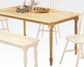 Acme Natural Finish Dining Table Farmhouse AC02247N