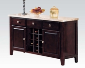Acme Server w/ White Marble Top Britney AC17057