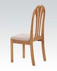 Acme Side Chair in Oak Finish Stockholm AC02190CO (Set of 2)