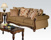 Acme Sofa in Brown Floral Olysseus Fabric AC50310