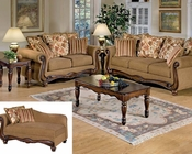 Acme Sofa Set in Brown Floral Olysseus Fabric AC50310SET