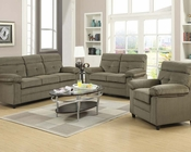 Acme Sofa Set in Brown Velvet Alicia AC51360SET