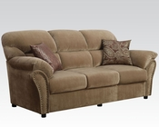 Acme Sofa w/ 2 Pillows Patricia Light Brown AC51950
