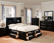 Acme Transitional Bedroom Set Manhattan Black AC14110SET