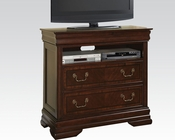 Acme TV Console in Brown Cherry Hennessy AC19457