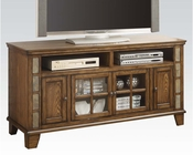 Acme TV Stand in Oak Finish AC91184