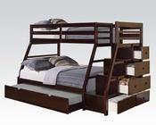 Acme Twin/ Full Bunk Bed in Espresso AC37015A