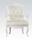Acme White Accent Chair AC59130