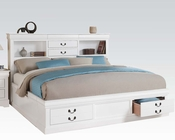 Acme White Bed w/ Storage Louis Philippe III AC24490BED
