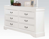 Acme White Dresser Louis Philippe III AC24505