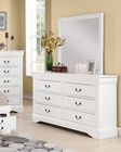 Acme White Dresser w/ Mirror Louis Philippe III AC24505DM