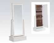 Acme White Jewelry Armoire AC97116