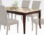 Acme White Marble Dining Table Britney AC70060A
