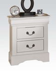 Acme White Nightstand Louis Philippe III AC24503