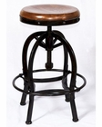 AdjusTable BarStool w/ Wooden Seat by Sunny Designs SU-1725RO
