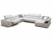 Adjustable Headrests Sectional Sofa in Contemporary Style 44L6089