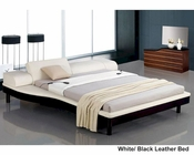 Adjustable Leatherette Bed w/ Built-In Nightstands 44B143BD