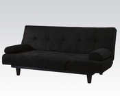 Adjustable Sofa in Black Microfiber by Acme Furniture AC05855W-BK