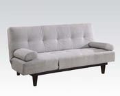 Adjustable Sofa in Gray Microfiber by Acme Furniture AC05855W-SI