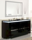 *Adriana Modern Black 3 Door Buffet 44DADRB