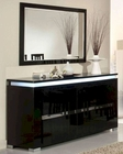 *Adriana Modern Black Buffet with Mirror 44DADRBM