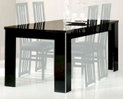 *Adriana Modern Black Dining Table 44DADRT