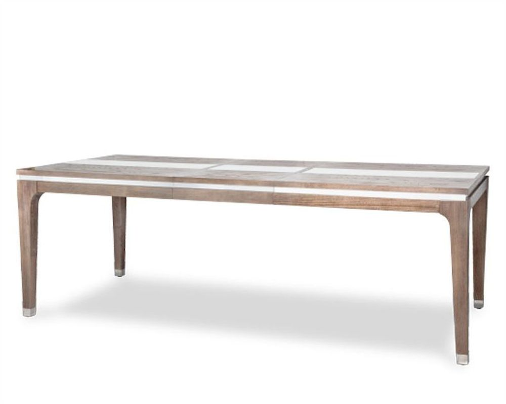 Aico 4 Leg Dining Table Biscayne West In Haze Finish Ai